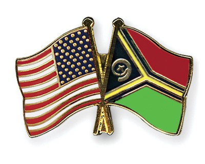 Special Offer Crossed Flag Pins USA-Vanuatu