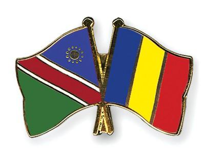 Crossed Flag Pins Namibia-Chad
