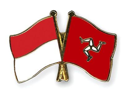 Crossed Flag Pins Indonesia-The-Isle-of-Man