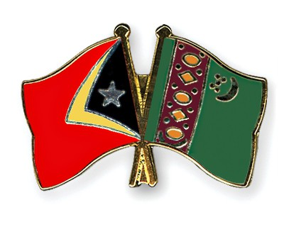 Crossed Flag Pins Timor-Leste-Turkmenistan