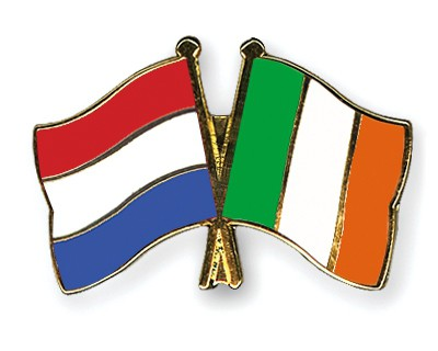 Special Offer Crossed Flag Pins Netherlands-Ireland