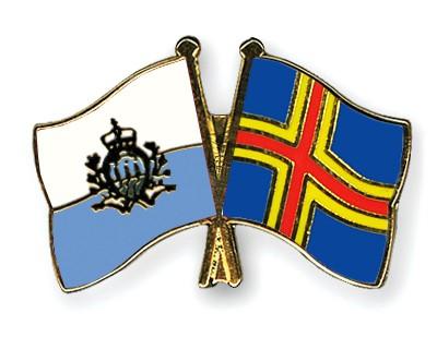 Crossed Flag Pins San-Marino-Aland