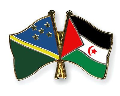 Crossed Flag Pins Solomon-Islands-Western-Sahara