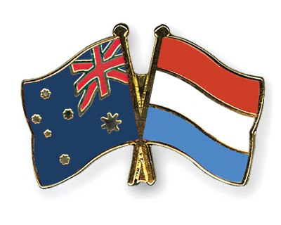 Special Offer Crossed Flag Pins Australia-Luxembourg