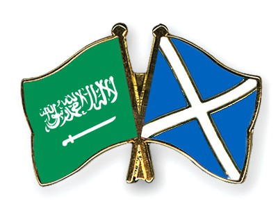 Crossed Flag Pins Saudi-Arabia-Scotland