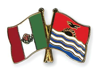 Crossed Flag Pins Mexico-Kiribati