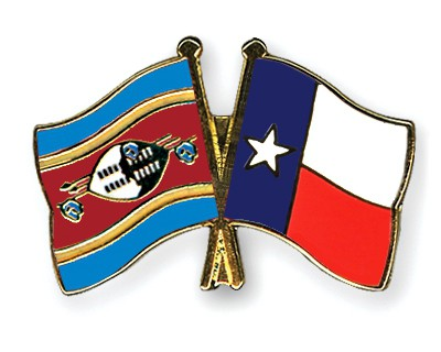 Crossed Flag Pins Swaziland-Texas