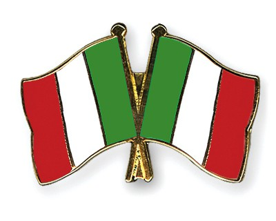 Crossed Flag Pins Italy-Italy