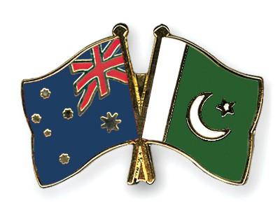 Crossed Flag Pins Australia-Pakistan
