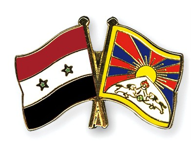 Crossed Flag Pins Syria-Tibet