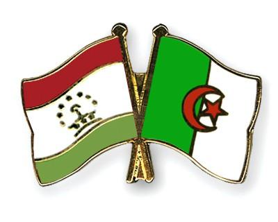 Crossed Flag Pins Tajikistan-Algeria