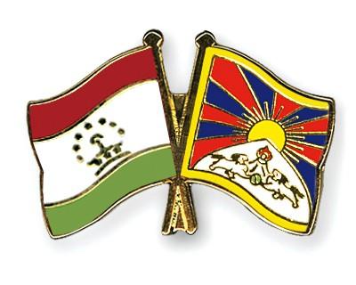 Crossed Flag Pins Tajikistan-Tibet