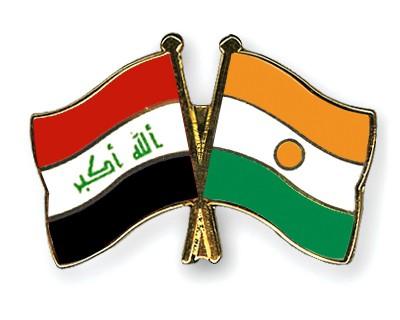 Crossed Flag Pins Iraq-Niger