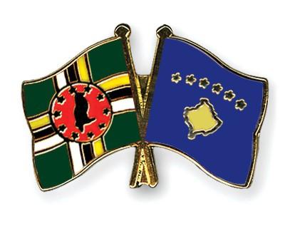 Crossed Flag Pins Dominica-Kosovo