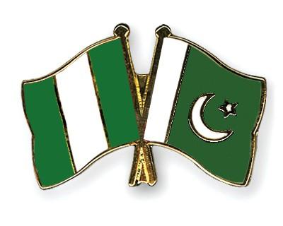 Crossed Flag Pins Nigeria-Pakistan
