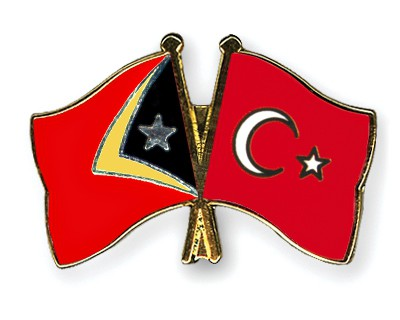 Crossed Flag Pins Timor-Leste-Turkey