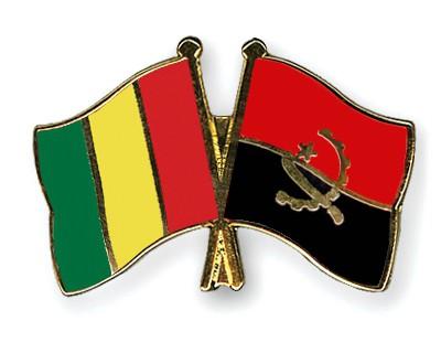 Crossed Flag Pins Guinea-Angola