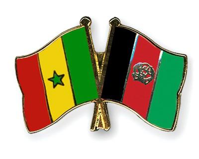 Crossed Flag Pins Senegal-Afghanistan