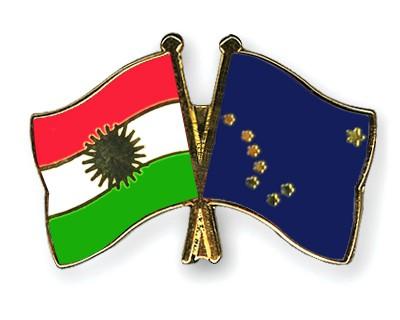 Crossed Flag Pins Kurdistan-Alaska