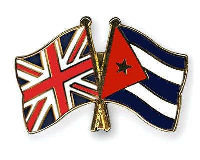 Crossed Flag Pins Great-Britain-Cuba