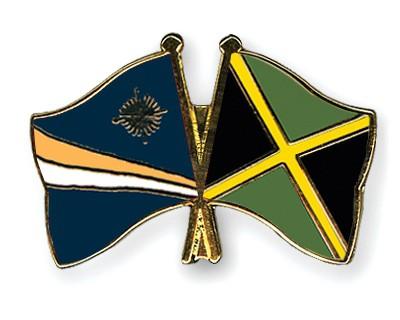 Crossed Flag Pins Marshall-Islands-Jamaica