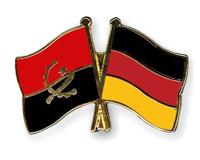 Special Offer Crossed Flag Pins Angola-Germany