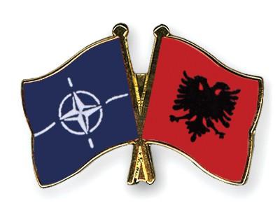 Crossed Flag Pins NATO-Albania