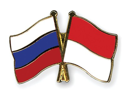 Crossed Flag Pins Russia-Indonesia