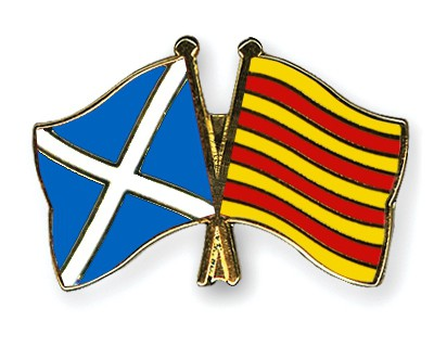 Special Offer Crossed Flag Pins Scotland-Catalonia