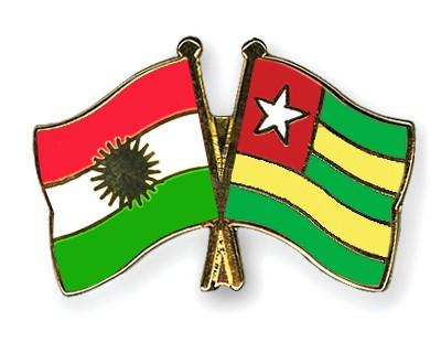 Crossed Flag Pins Kurdistan-Togo