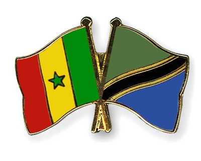 Crossed Flag Pins Senegal-Tanzania