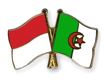 Crossed Flag Pins Indonesia-Algeria