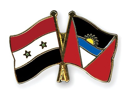 Crossed Flag Pins Syria-Antigua-and-Barbuda