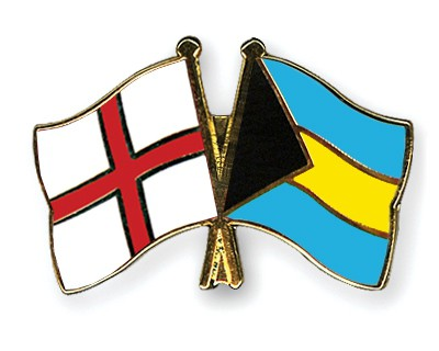 Crossed Flag Pins England-Bahamas