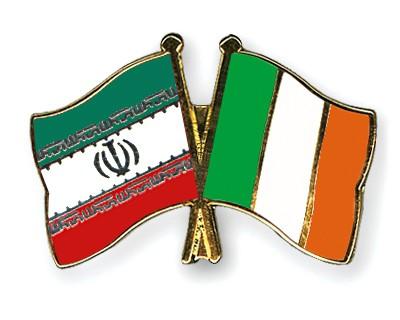 Crossed Flag Pins Iran-Ireland