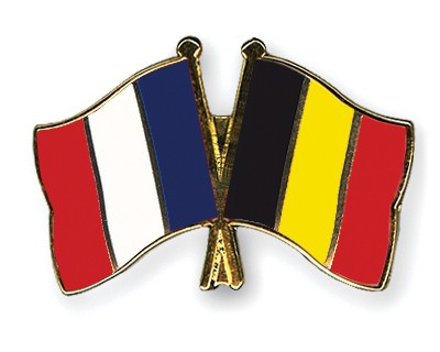 Special Offer Crossed Flag Pins France-Belgium