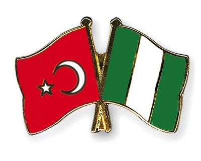 Crossed Flag Pins Turkey-Nigeria