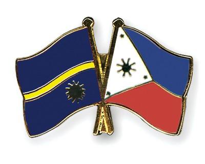 Crossed Flag Pins Nauru-Philippines