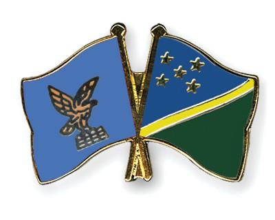 Crossed Flag Pins Friuli-Venezia-Giulia-Solomon-Islands