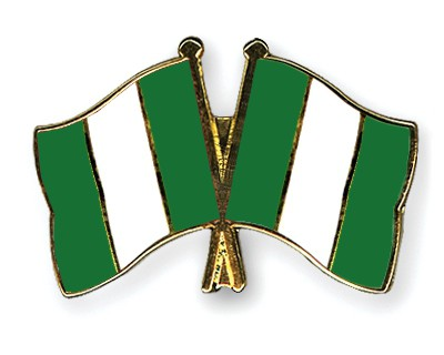 Crossed Flag Pins Nigeria-Nigeria