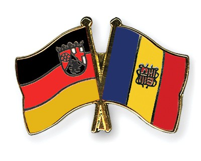 Crossed Flag Pins Rhineland-Palatinate-Andorra