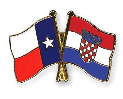 Crossed Flag Pins Texas-Croatia