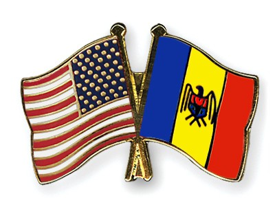 Special Offer Crossed Flag Pins USA-Moldova