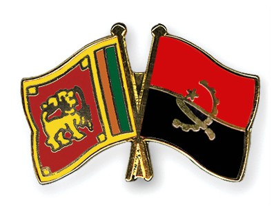 Crossed Flag Pins Sri-Lanka-Angola