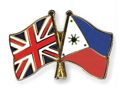 Crossed Flag Pins Great-Britain-Philippines