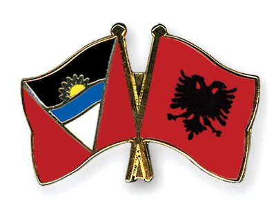 Crossed Flag Pins Antigua-and-Barbuda-Albania