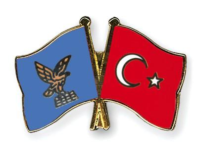 Crossed Flag Pins Friuli-Venezia-Giulia-Turkey