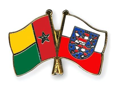 Crossed Flag Pins Guinea-Bissau-Thuringia