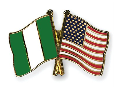 Special Offer Crossed Flag Pins Nigeria-USA