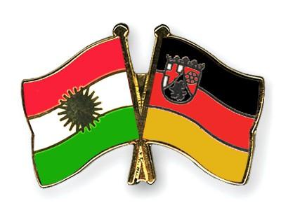 Crossed Flag Pins Kurdistan-Rhineland-Palatinate